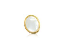 Jolifin Overlay - weiß Perlmutt oval