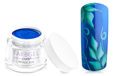 Jolifin Farbgel metallic blue 5ml