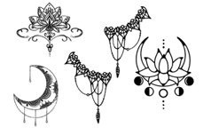 Jolifin Black Elegance Tattoo Nr. 36