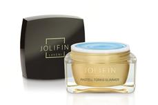 Jolifin LAVENI Farbgel - pastell-türkis Glimmer 5ml