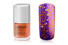 Jolifin Stamping-Lack - pure-orange 12ml