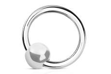 Jolifin Nagel-Piercing 925-Silber - Kugel Perlmutt