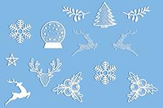 Jolifin XL Sticker Christmas Nr. 2