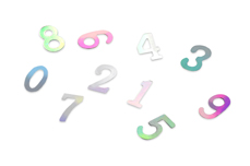 Jolifin Einleger - Zahlen silber Hologramm