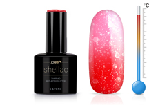 Jolifin LAVENI Shellac - Thermo red-rosy Glitter 12ml