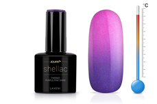 Jolifin LAVENI Shellac - Thermo purple-pink shine 12ml