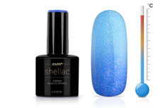 Jolifin LAVENI Shellac - Thermo blue-ice sparkle 12ml