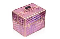 Jolifin Mobiler Kosmetik Koffer - rosy hologramm - B-Ware