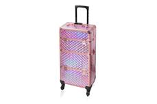 Jolifin Trolley Koffer - rosy hologramm - B-Ware