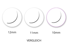 Jolifin Lashes - SingleBox 10mm - 1:1 D-Curl 0,15