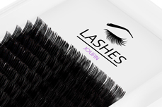 Jolifin Lashes - SingleBox Flat 14mm - 1:1 C-Curl 0,15