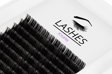 Jolifin Lashes - SingleBox Flat 8mm - 1:1 D-Curl 0,15