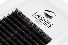 Jolifin Lashes - SingleBox Flat 9mm - 1:1 D-Curl 0,15
