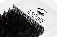 Jolifin Lashes - SingleBox Flat 14mm - 1:1 D-Curl 0,15