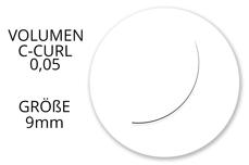 Jolifin Lashes - SingleBox 9mm - Volumen C-Curl 0,05