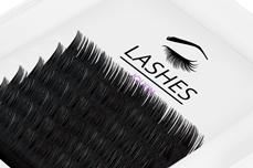 Jolifin Lashes - SingleBox 12mm - Volumen C-Curl 0,05