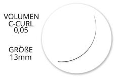 Jolifin Lashes - SingleBox 13mm - Volumen C-Curl 0,05