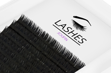 Jolifin Lashes - SingleBox 9mm - Volumen D-Curl 0,05