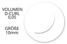 Jolifin Lashes - SingleBox 10mm - Volumen D-Curl 0,05