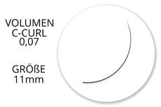 Jolifin Lashes - SingleBox 11mm - Volumen C-Curl 0,07