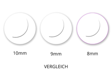 Jolifin Lashes - SingleBox 8mm - Volumen D-Curl 0,07