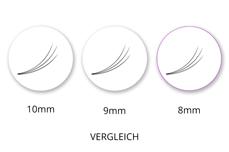 Lashes - SingleBox 8mm - 3D Wimpernfächer C-Curl 0,07