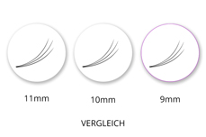 SingleBox 9mm - 3D Wimpernfächer C-Curl 0,07
