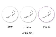 SingleBox 11mm - 3D Wimpernfächer C-Curl 0,07