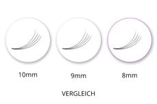 SingleBox 8mm - 4D Wimpernfächer C-Curl 0,07