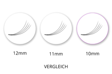 SingleBox 10mm - 4D Wimpernfächer C-Curl 0,07