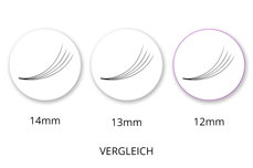 SingleBox 12mm - 4D Wimpernfächer C-Curl 0,07