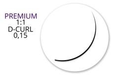 Jolifin Lashes - Premium MixBox - 1:1 D-Curl 0,15