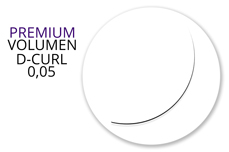 Jolifin Lashes - Premium MixBox - Volumen D-Curl 0,05