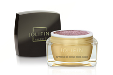 Jolifin LAVENI Farbgel - sparkle chrome rosé-gold 5ml
