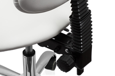 Jolifin Rollhocker mit Rückenlehne - ergonomisch