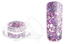 Jolifin Hexagon Glittermix silver-rose