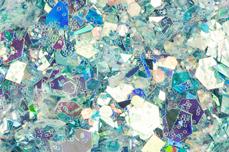 Jolifin Hexagon Glittermix silver-türkis