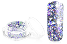 Jolifin Hexagon Glittermix silver-blue