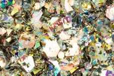 Jolifin Hexagon Glittermix black-gold