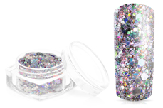 Jolifin Hexagon Glittermix luxury silver
