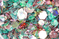 Jolifin Hexagon Glittermix rosy-ocean