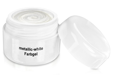 Farbgel metallic white 5ml