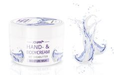 Jolifin Hand- & Bodycream mit Sheabutter - moisture milk 275ml