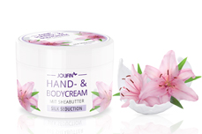 Jolifin Hand- & Bodycream mit Sheabutter - silk seduction 275ml