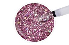Jolifin LAVENI Shellac - silver-magenta sparkle 12ml