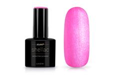 Jolifin LAVENI Shellac - neon-pink Glimmer 12ml