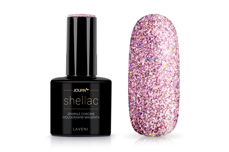Jolifin LAVENI Shellac - sparkle chrome hologramm magenta 12ml