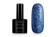Jolifin LAVENI Shellac - sparkle chrome hologramm blue 12ml