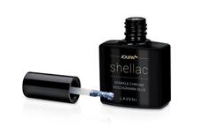 Jolifin LAVENI Shellac - sparkle chrome hologramm blue 12ml