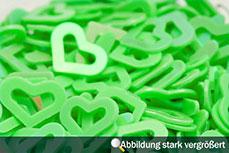 Jolifin Hologramm Herzen - grün